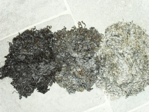 Lambs fleece dark, mid and pale grey