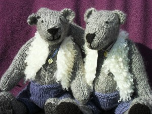 Hand spun / hand knitted Gotland teds